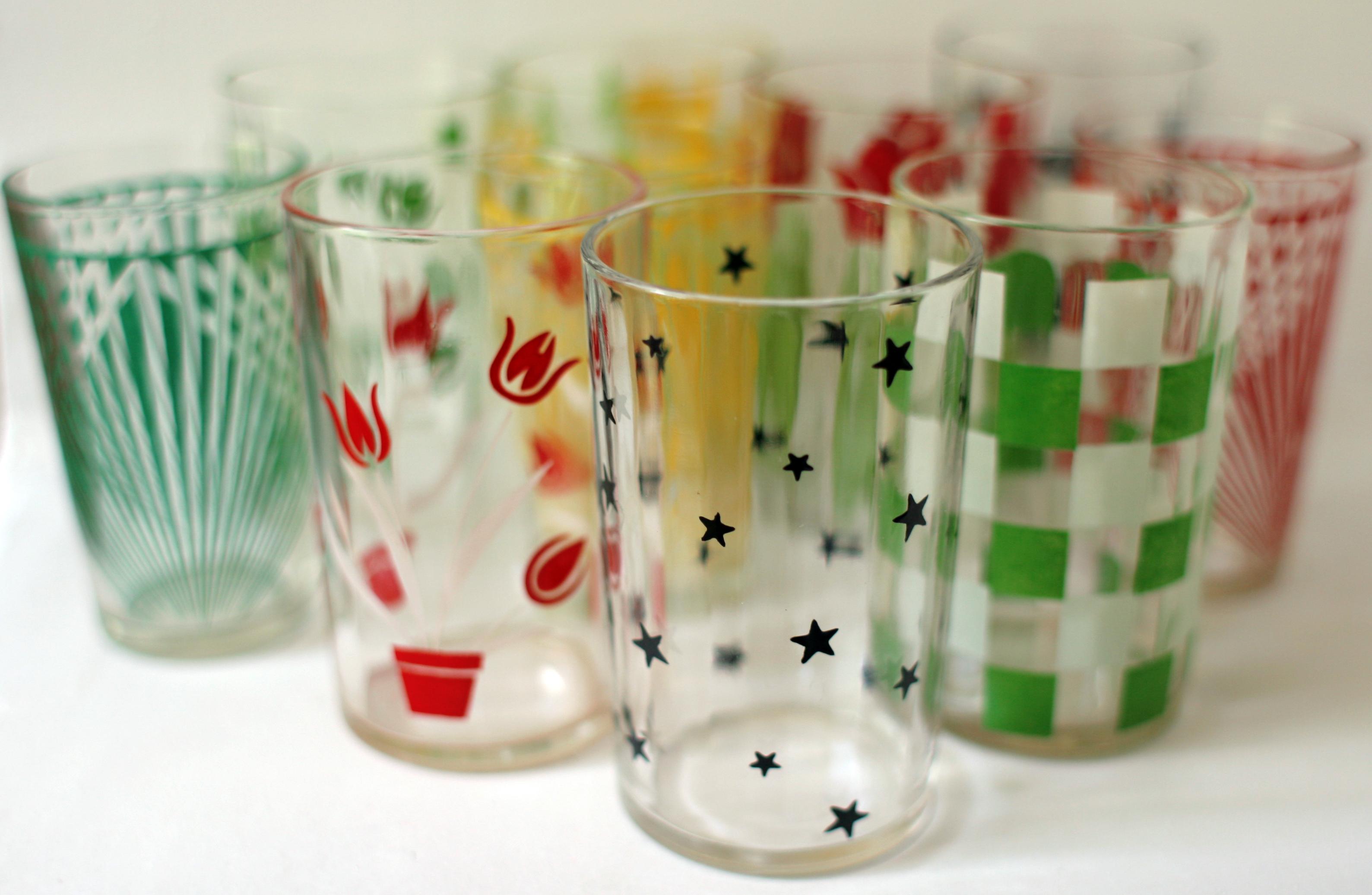 Vintage Juice Glasses 48