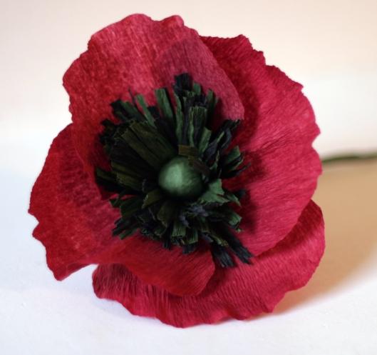 diy vintage crepe paper flower hat