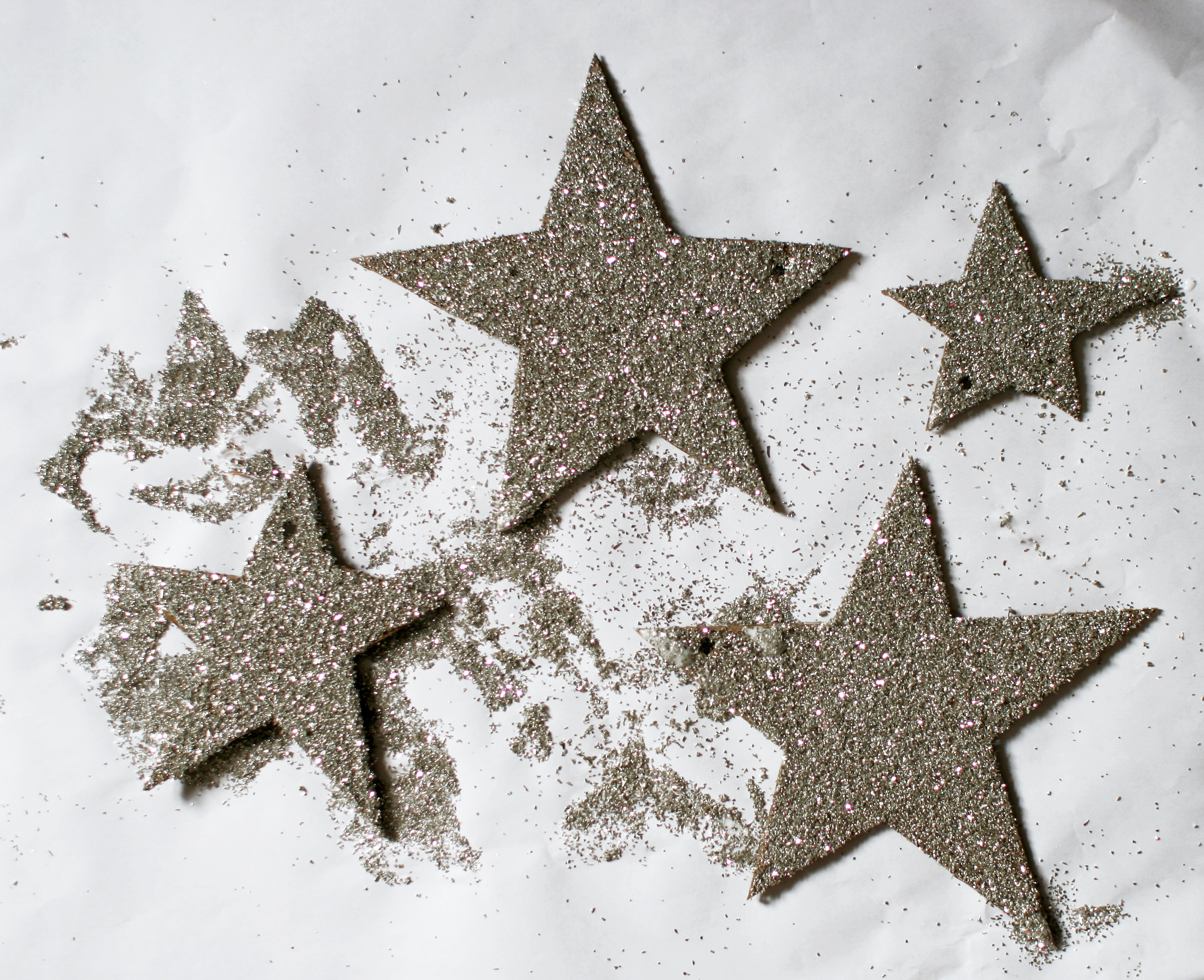 Diy German Glass Glitter Stars Domesticspace