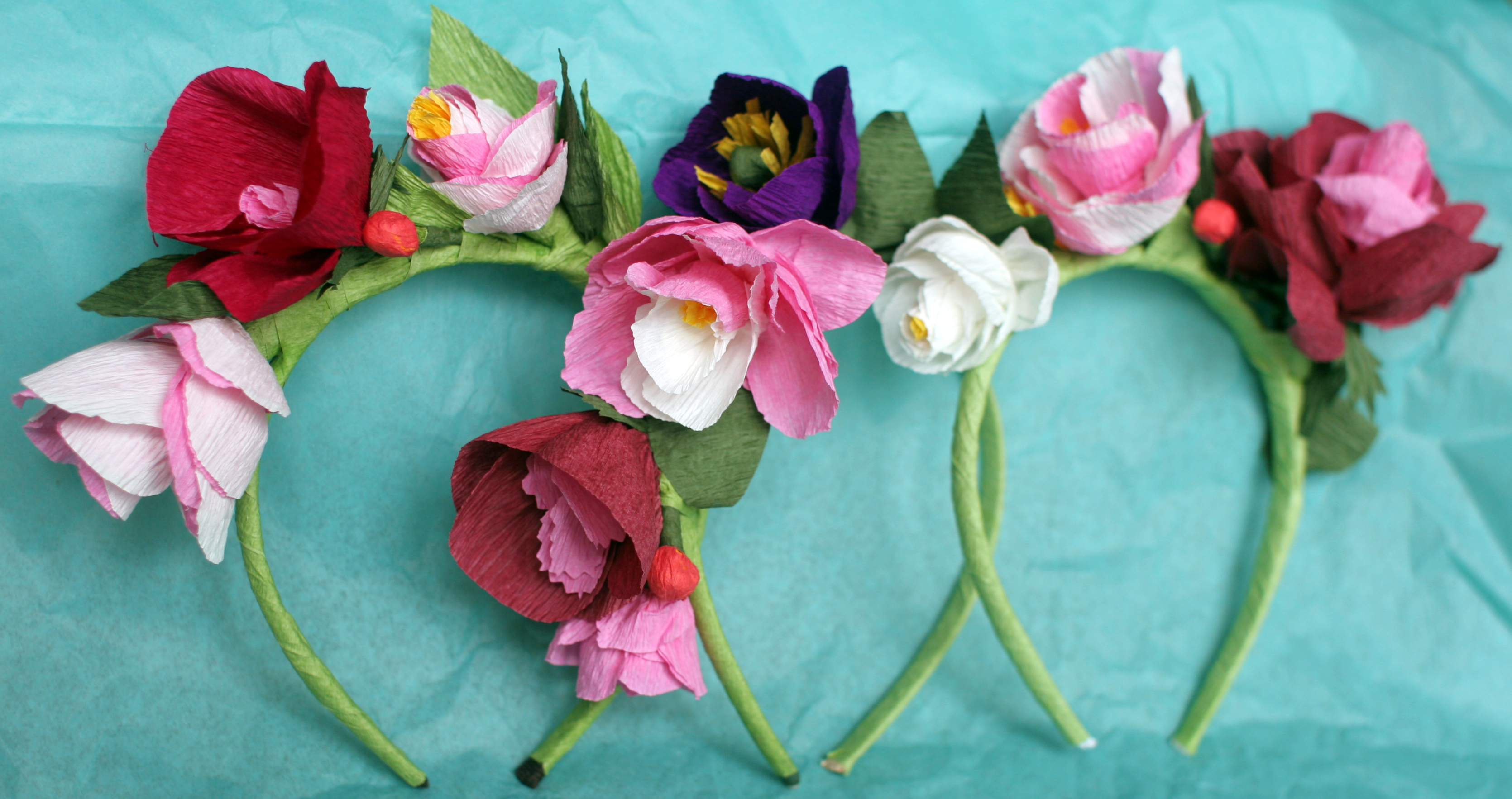 DIY Paper Flower Crowns