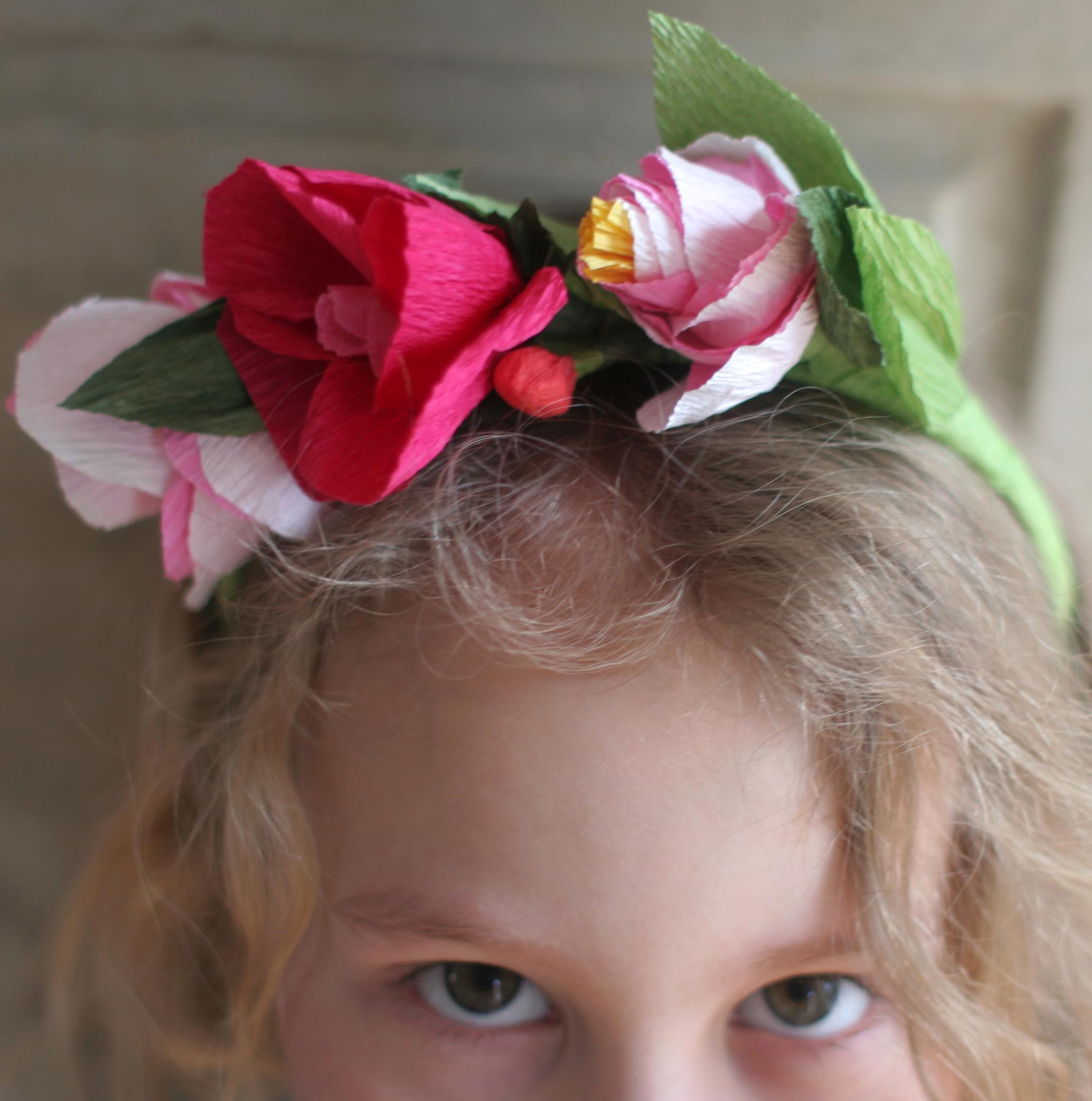 DIY Paper Flower Crowns Domesticspace