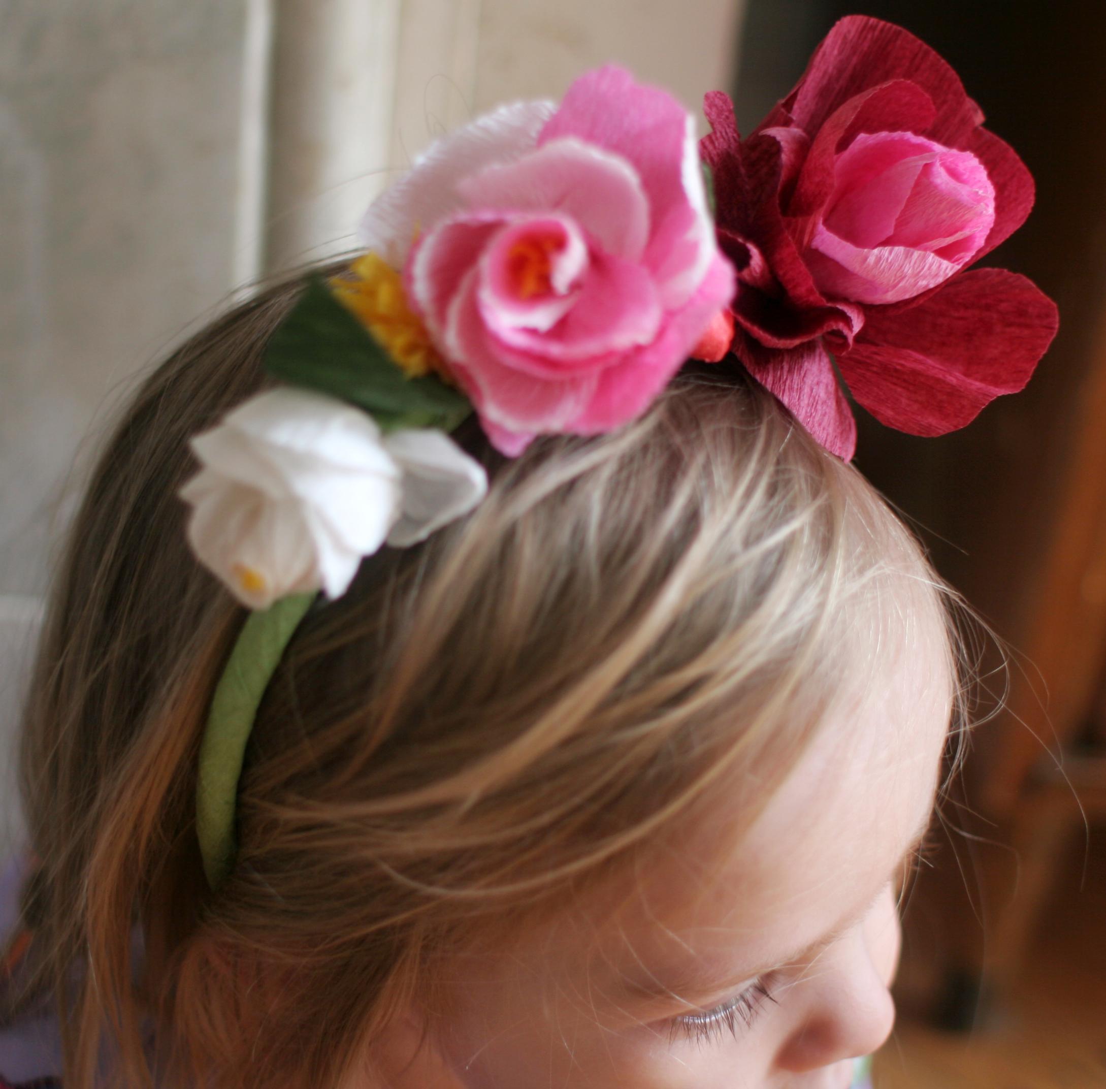 diy paper flower crowns