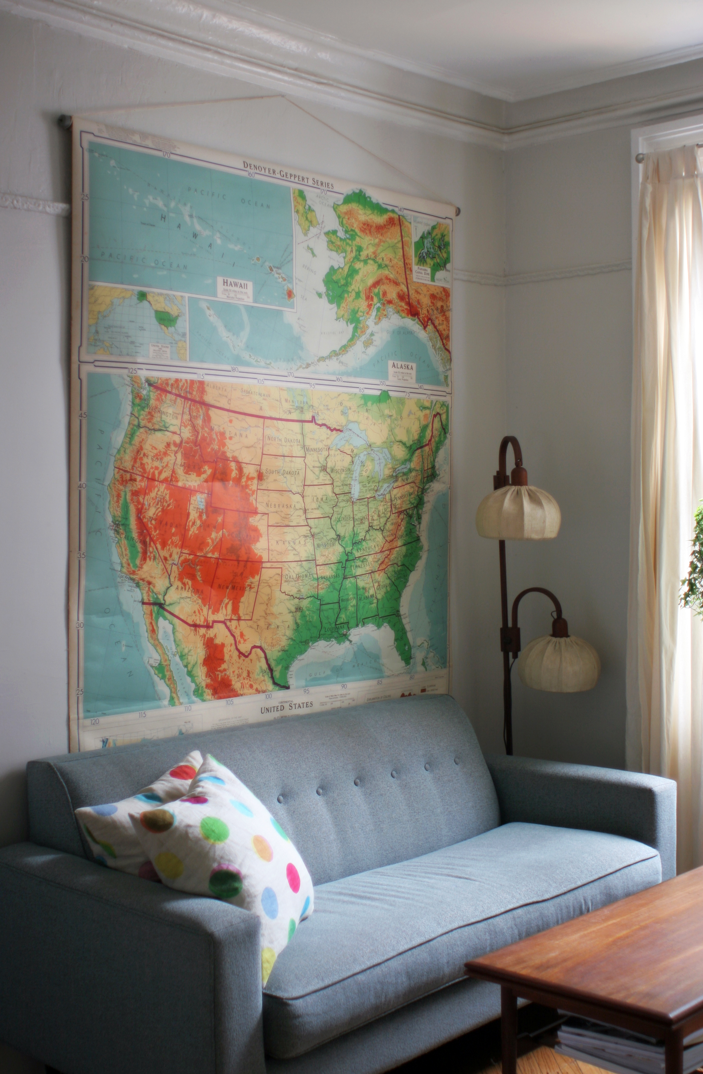 Flea Market Finds Vintage School Map Domesticspace - Cheap vintage maps