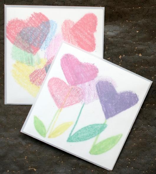 StencilHeartEnvelopes